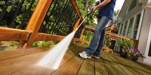 Pressure Washer Clean Deck