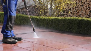 Using Pressure Washer on Patio