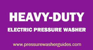 Heavy-duty electric pressure washer