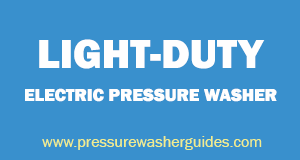 Light-duty electric pressure washer