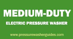 Medium-duty electric pressure washer