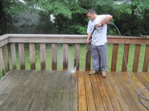 Cleaning Wooden Deck