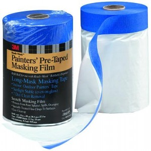 Hand-Masker Plastic Drop Cloth Saves Time for Painting