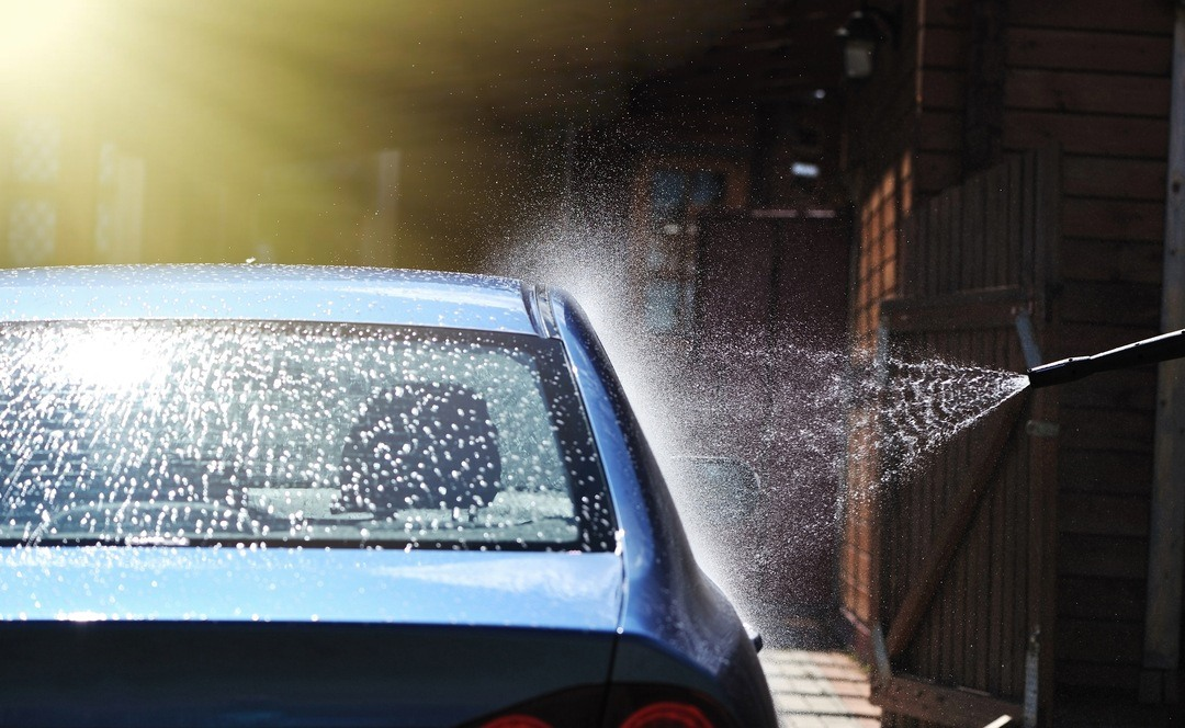 Car washing using a pressure washer